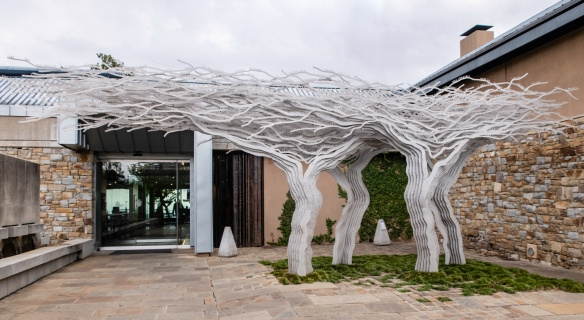 TOKARA is the embodiment of GT Ferreira_s philosophy that good wine, good food and good art go together to make a good lifestyle; the magnificent installation art by Marco Cianfanelli,