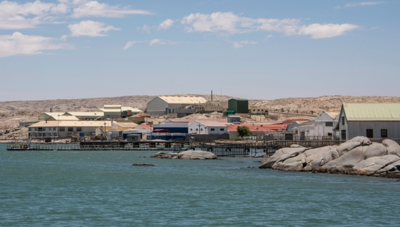The main industry of Lüderitz, Namibia, is fishing and fish processing in the facility pictured