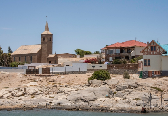 This church overlooks the harbor at Lüderitz, Namibia