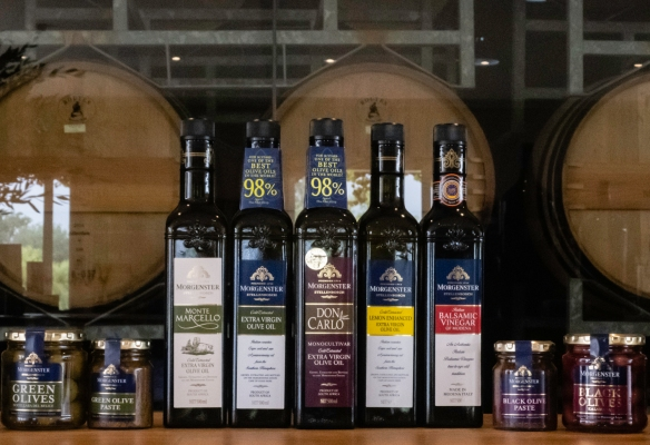 We enjoyed a tasting of the olives and olive oils grown, processed and produced at the Morgenster Wine and Olive Estate, Somerset West, South Africa