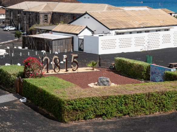 A small park in the center of Georgetown, Ascension Island, marks the bicentennial of the founding of the city in 1815