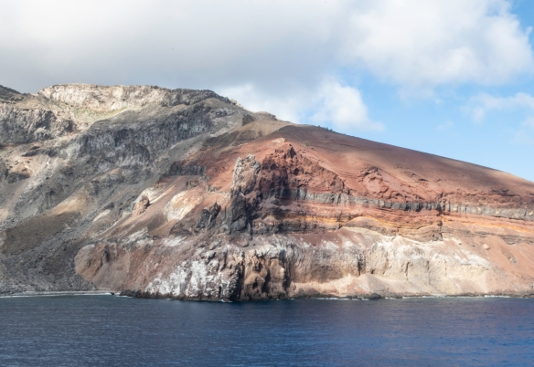 Ascension Island, located in the South Atlantic Ocean (between the coasts of Brazil and Africa) is a geologically young formation, the tip of an undersea volcano that rose above the wave