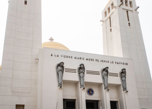 Cathédrale Notre Dame des Victoires (Our Lady of Victories Cathedral), the Roman Catholic cathedral in Dakar, Senegal, was consecrated in 1936