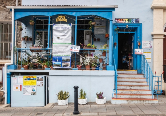 Chad_s Shop on the main street in Jamestown, Saint Helena Island – claiming to be a one-stop shop for just about anything a tourist might want