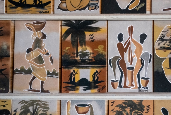 Finished sand paintings for sale in Dakar, Senegal