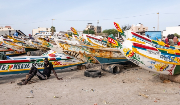 Fishing boats on Soumbédioune beach, Dakar, Senegal