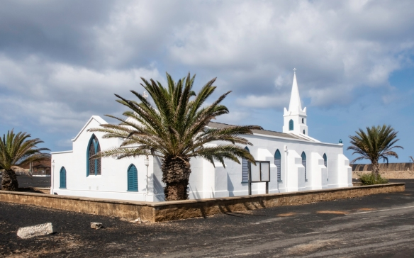 Georgetown, Ascension Island is centered on St. Mary_s Church (an Anglican Church)