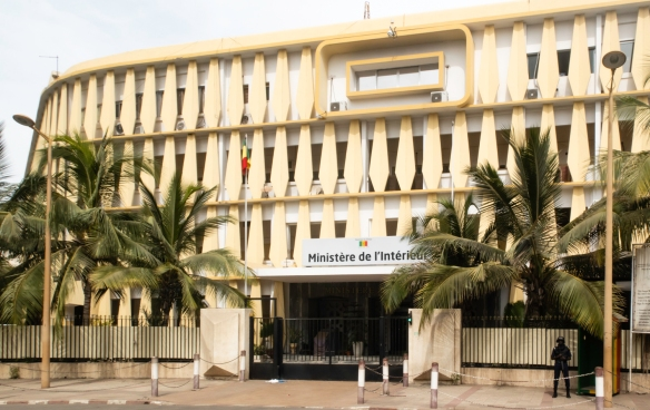 Ministère de l_Intérieur (the Ministry of the Interior) building in downtown Dakar, Senegal