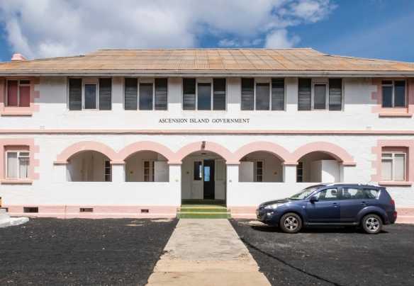 The Ascension Island Government Building was originally built as a Petty Officer_s Mess between 1899 and 1903 and has served as the office of the British Administrator, Georgetown, Asc