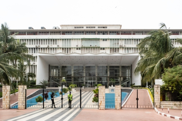 The Assemblee Nationale (National Assembly) of Dakar, the capital of Senegal, in West Africa, located on the Atlantic Ocean at the westernmost point of the continent of Africa