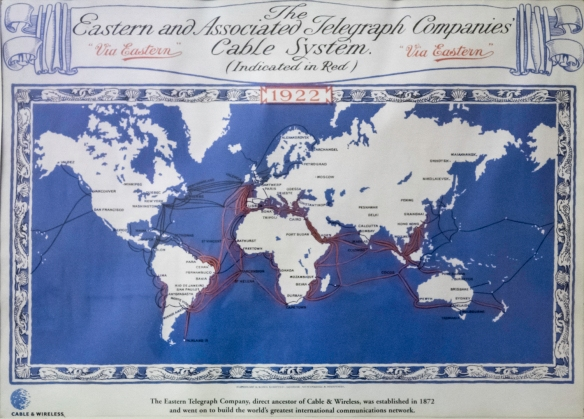 The Eastern Telegraph Company, direct ancestor of Cable & Wireless, helped transform Georgetown and Ascension Island into a vital communications hub in the late 18th and early 19th centu