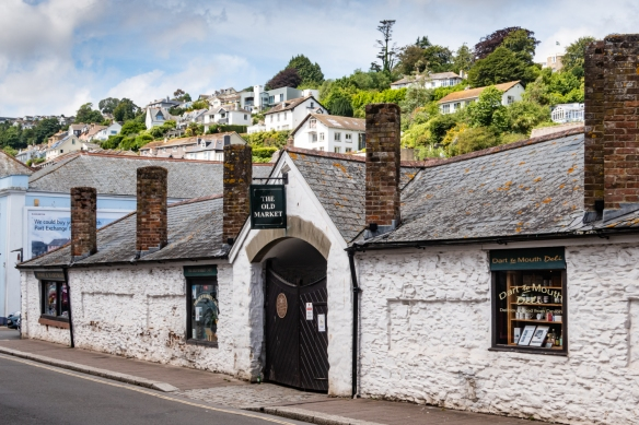Dartmouth's Old Market was built originally on land reclaimed from the old Mill Pool as a pannier market, where eggs, poultry and fresh produce from local farms were sold