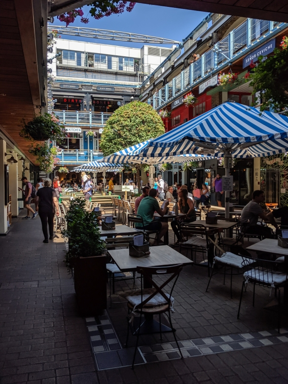 Kingly Court (off Kingly Street in Soho), City of Westminster, London, England