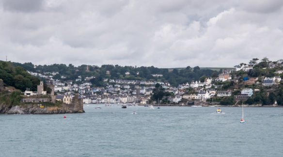 Our ship anchored offshore from Dartmouth, England, a lovely resort town on the western side of the south coast of the English Channel, at the mouth of the River Dart, giving us a nice view of the River and Dartmouth Castle