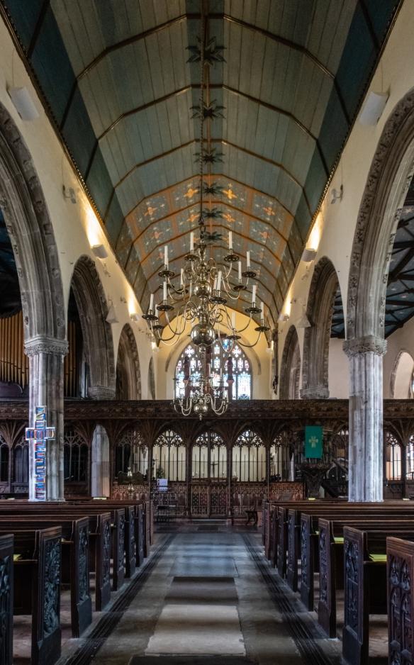 St. Saviour's Church's interior, Dartmouth, England