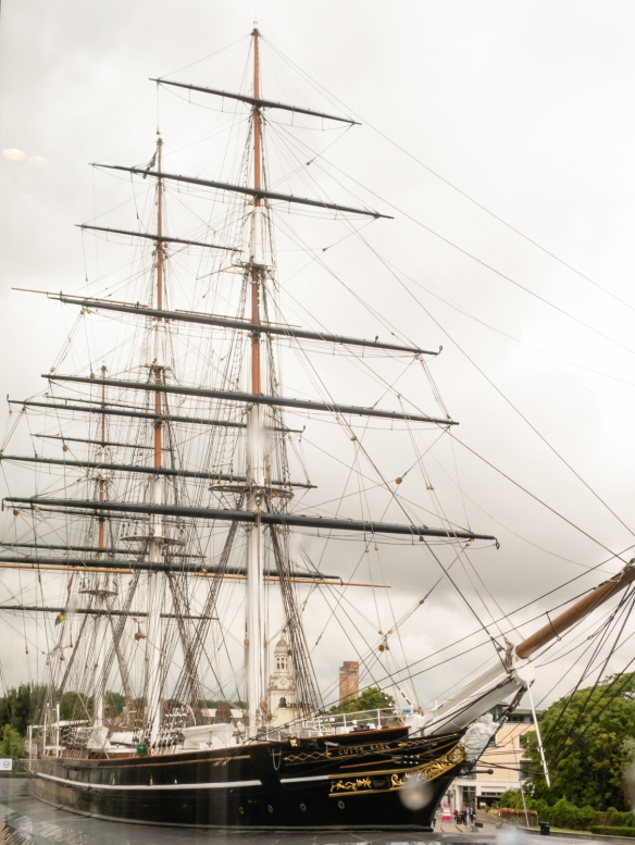 The Cutty Sark, the sole surviving British tea clipper ship, was built on the River Clyde, Glasgow, Scotland in 1869, and was one of the last tea clippers to be built and one of the fastest; Greenwich, London, England