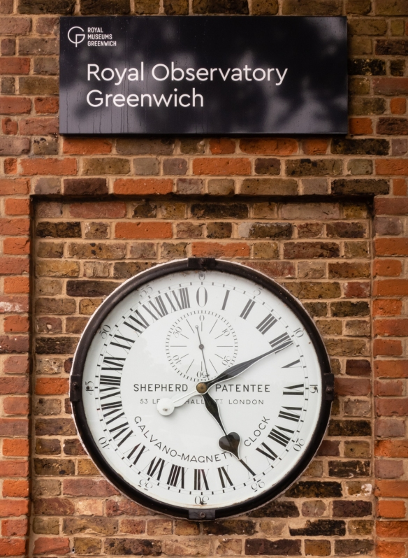 The Shepherd 24-hour Gate Clock is one of the earliest electrically driven public clocks, whose dial always shows Greenwich Mean Time (GMT), and was installed at the Greenwich Royal Observatory in 1852