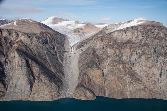 Aerial photo of Sam Ford Fjord (Kangiqtualuk Uqquqti), Baffin Island, Nunavut, Canada, #10
