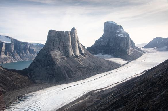 Aerial photo of Sam Ford Fjord (Kangiqtualuk Uqquqti), Baffin Island, Nunavut, Canada, #3