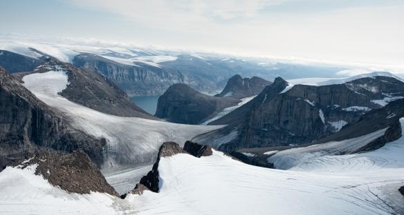 Aerial photo of Sam Ford Fjord (Kangiqtualuk Uqquqti), Baffin Island, Nunavut, Canada, #5
