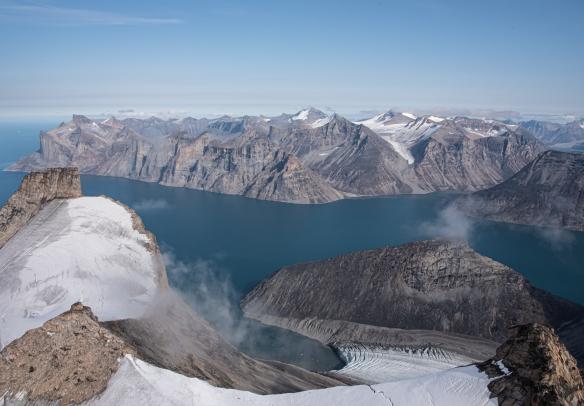 Aerial photo of Sam Ford Fjord (Kangiqtualuk Uqquqti), Baffin Island, Nunavut, Canada, #7