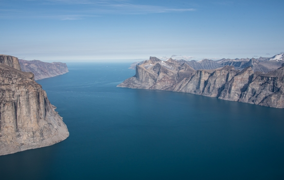 Aerial photo of Sam Ford Fjord (Kangiqtualuk Uqquqti), Baffin Island, Nunavut, Canada, #8