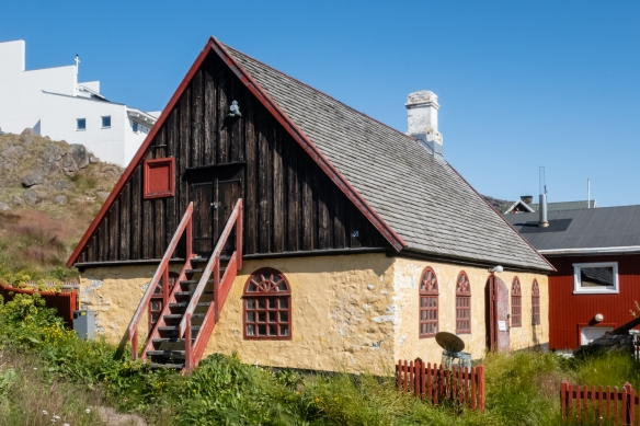 An old settlement house is now the Norse Viking museum in Qaqortoq, Greenland
