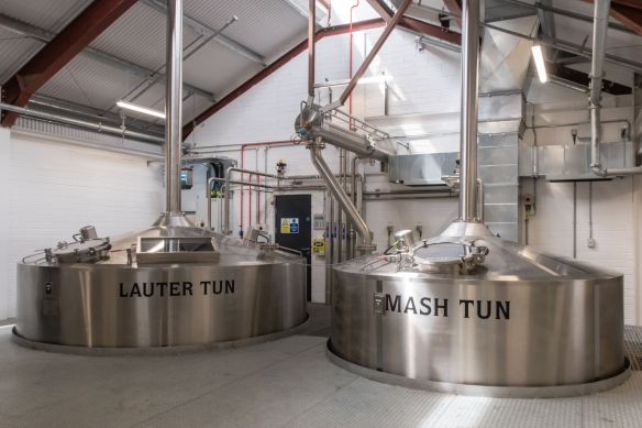 Brewing at Slane Distillery takes place in the Lauter Tun and Mash Tun, Slane, County Meath, Republic of Ireland