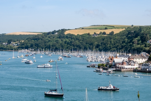 Kingswear Harbour, across the River Dart from Dartmouth, South Devon, England