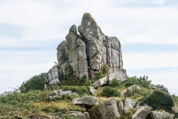 One of the highest points on St. Mary's Island was this rock outcropping, Isles of Scilly, England