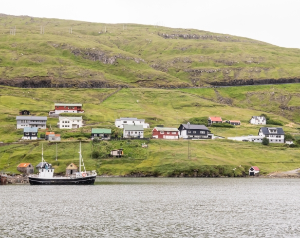 Sailing out of the Vestmanna Bay, we passed many picturesque homes on the shore, Streymoy, Faroe Islands
