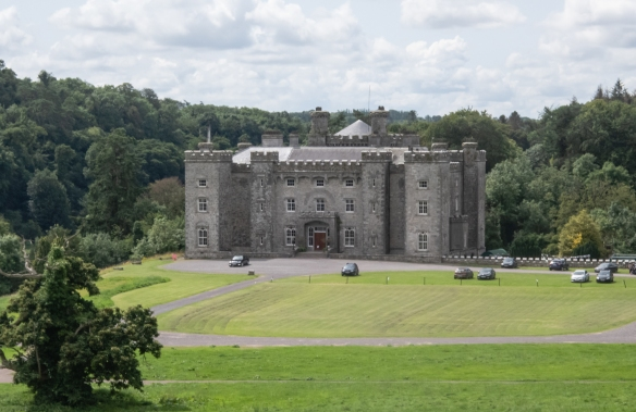 Slane Castle, a four-story, crenelated castle was reconstructed in 1785, Slane, County Meath, Republic of Ireland