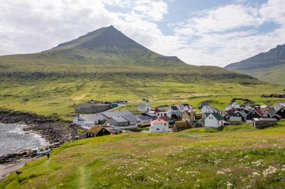 The beautiful setting on the coast of Gjógv, Eysturoy, Faroe Islands