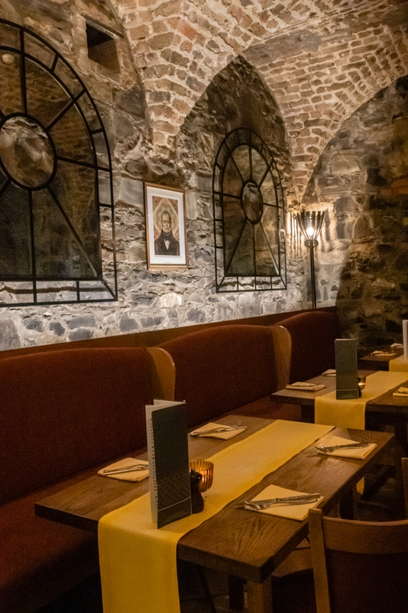 The Cellar Bar offers a casual gastro-pub menu in the basement of The Merrion Hotel, Dublin, Republic of Ireland