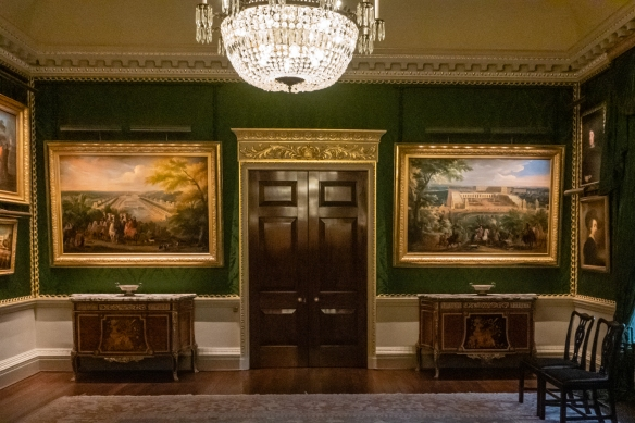 The display of art at Hillsborough Castle was selected to represent both the history and the contemporary use of the house as a royal and government residence, drawing from several sources, including The Royal Collection