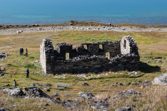 The ruins of Hvalsey Church; Vatican annals contain an account of a wedding here in 1408, the last written evidence of the Viking settlers and the Norse civilization in Greenland