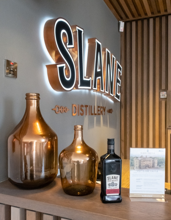 The Slane Distillery was opened in 2017 by the family owners of Slane Castle in a joint partnership with Brown-Forman Beverages and Jack Daniel Distillery in Lynchburg, Tennessee, USA, in the River Boyne region