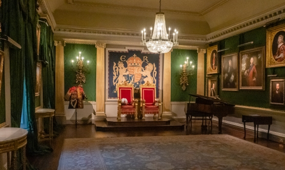 The Throne Room, a splendid space that is the ceremonial heart of the castle, was created in the early 19th century as a Saloon and was the picture gallery of the house