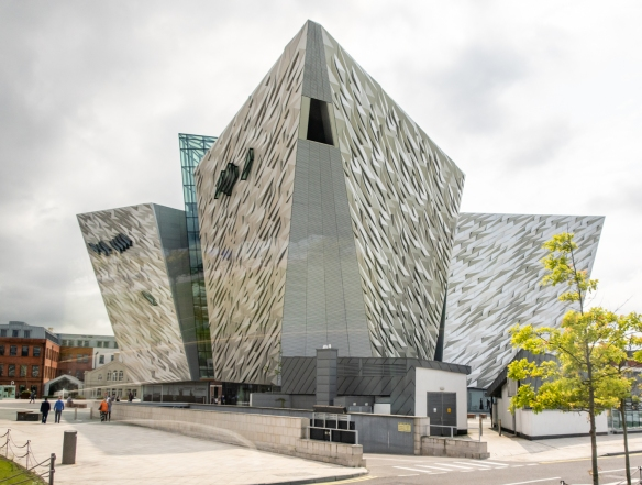 "The Titanic Belfast offers ""The Titanic Experience"" to visitors, an immersive museum-like journey through time from Boomtown Belfast at the end of the 19th century through the construction of the Titanic, its launch in 1912, its sinking"