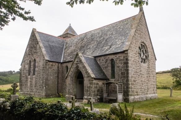The Tresco Island church, established by and with construction costs paid for by the island's Lord Proprietor, Augustus Smith, in the mid-1800s, Tresco Island, Isles of Scilly, United Kingdom