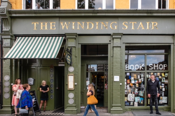 The Winding Stair Bookshop & Café became a famous Dublin landmark in the 1970s and 1980s and is named after the Yeats poem and in honor of its winding staircase (from the ground floor bookshop to the upstairs restaurant)