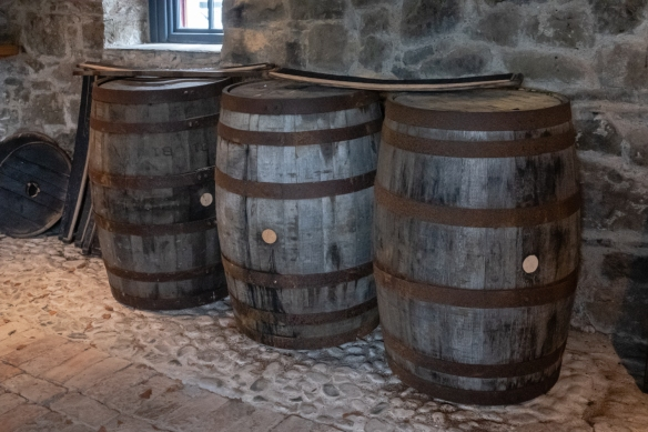 These old barrels were shown as examples of the three types of barrels that the whiskey at Slane Distillery is aged in before blending to create the complex but smooth final Slane Irish Whiskey, Slane, County Meath, Republic of Ireland