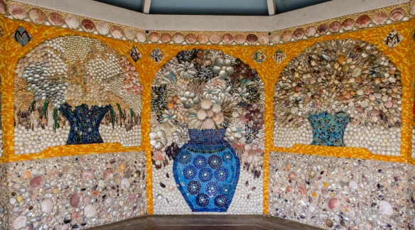 Tresco Abbey Garden, Tresco Island, Isles of Scilly, United Kingdom #8 – the shell house with murals constructed from sea shells