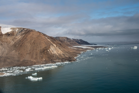Aerial photo, Boger Bay, Ellesmere Island, Nunavut, Canada, #1