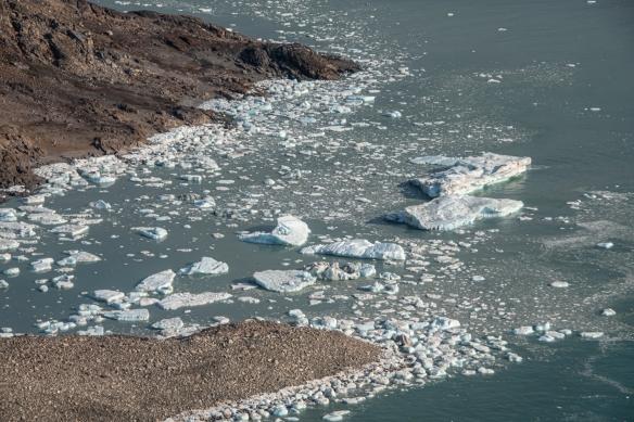 Aerial photo, Boger Bay, Ellesmere Island, Nunavut, Canada, #2