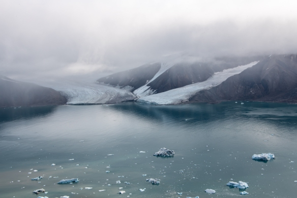 Aerial photo, Boger Bay, Ellesmere Island, Nunavut, Canada, #3