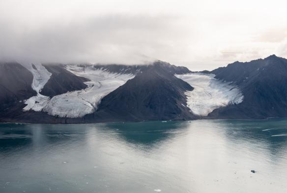Aerial photo, Boger Bay, Ellesmere Island, Nunavut, Canada, #4