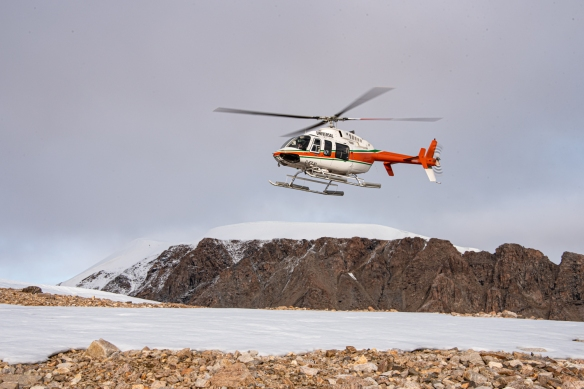 Aerial photo, Boger Bay, Ellesmere Island, Nunavut, Canada, #8
