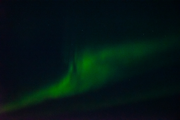 Aurora Borealis #2, photographed from the deck of our ship after sunset in Nunavut, approximately 70 degrees North Latitude, Canada (in the Northwest Passage)