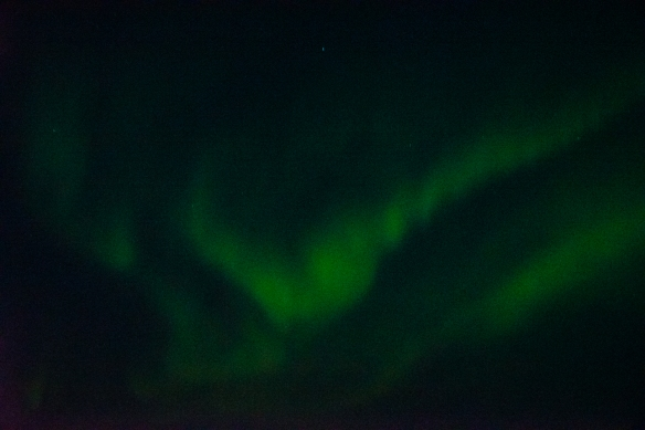 Aurora Borealis #3, photographed from the deck of our ship after sunset in Nunavut, approximately 70 degrees North Latitude, Canada (in the Northwest Passage)